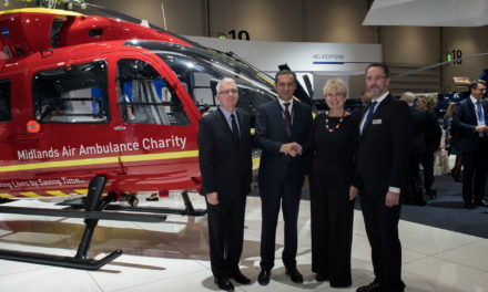 Airbus Helicopters Handover First H145 for Midlands Air Ambulance Charity