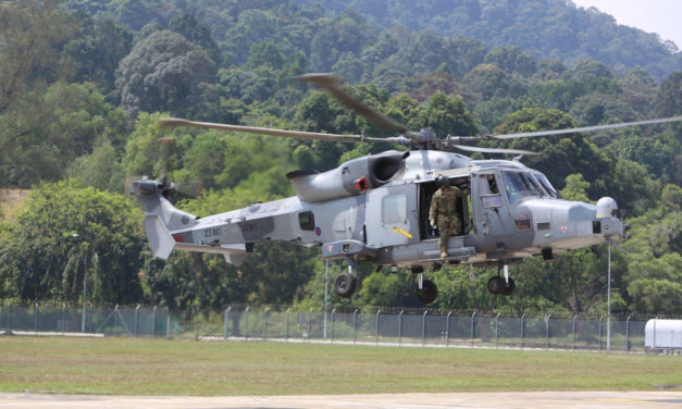 Leonardo demonstrates its AW159 helicopter to Malaysia's Armed Forces