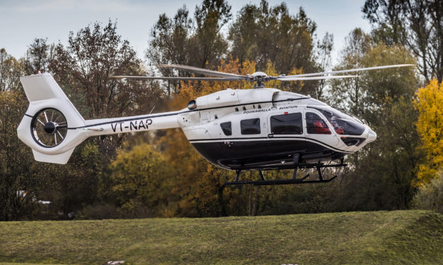 Businessman and philanthropist Adar Poonawalla takes delivery of India's first Airbus Corporate Helicopters ACH145