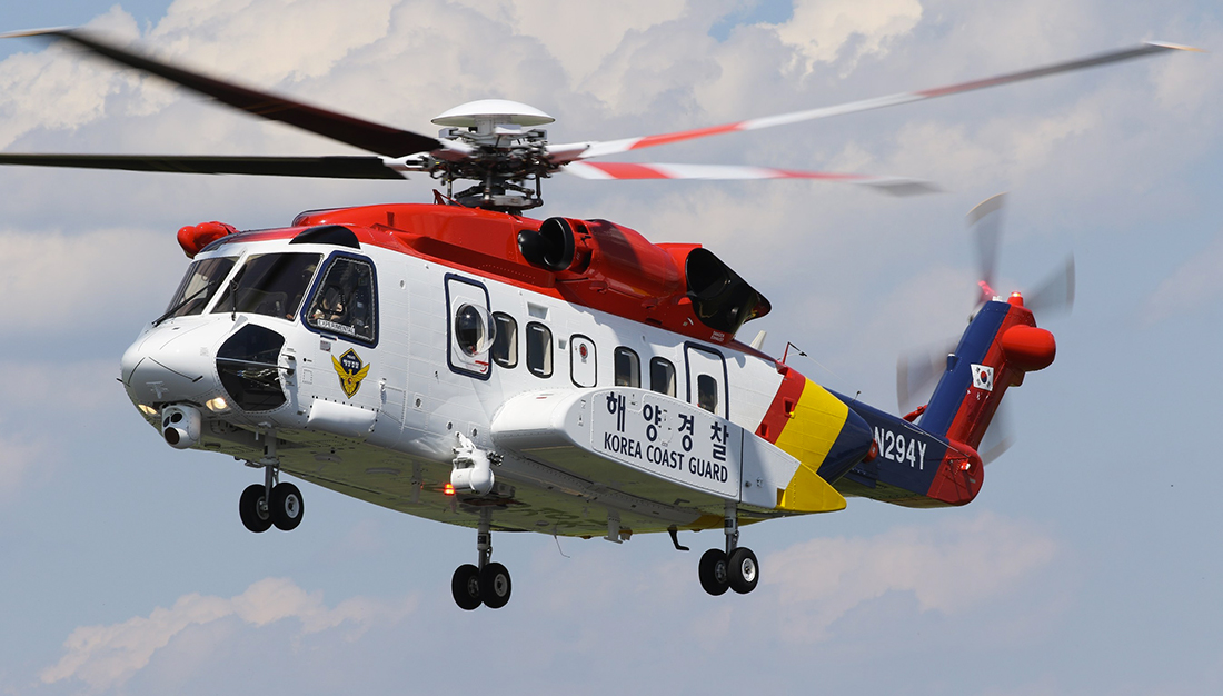 Sikorsky delivers second S-92 to South Korea Coast Guard