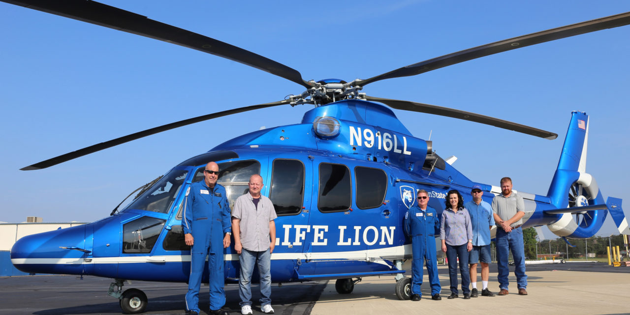 Metro Aviation delivers EC155 to Penn State Health