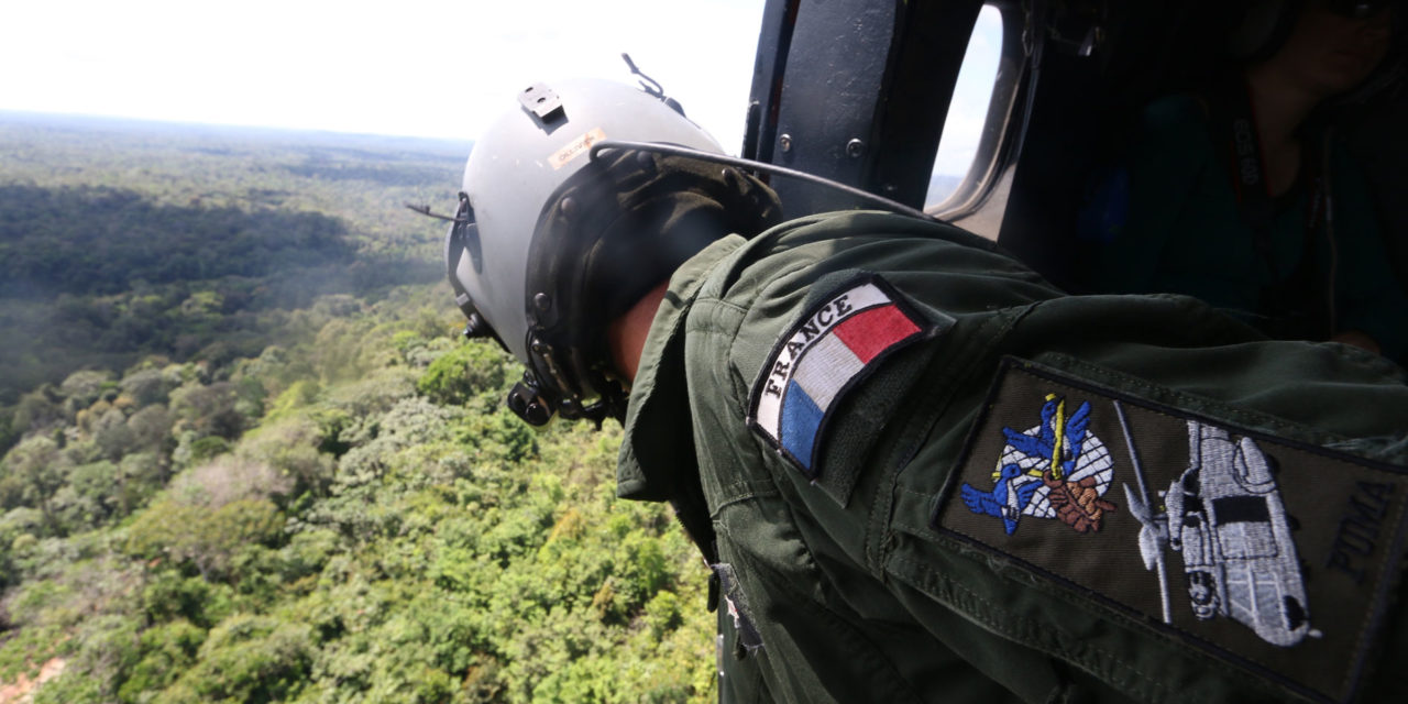 Helicopters protect the Guiana Space Center