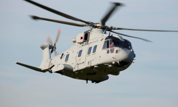 First Leonardo AW101 Commando Merlin delivered to the UK's Commando helicopter force