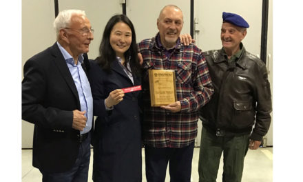 A pilot from Enstrom honored