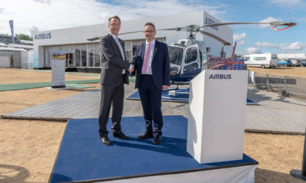 Airbus Helicopters handover of Empire Test Pilot School H125 to Qinetiq