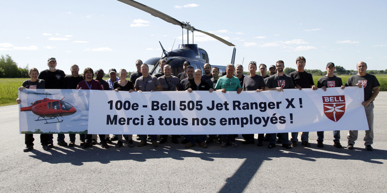 Bell completes 100th delivery of the Bell 505 Jet Ranger X
