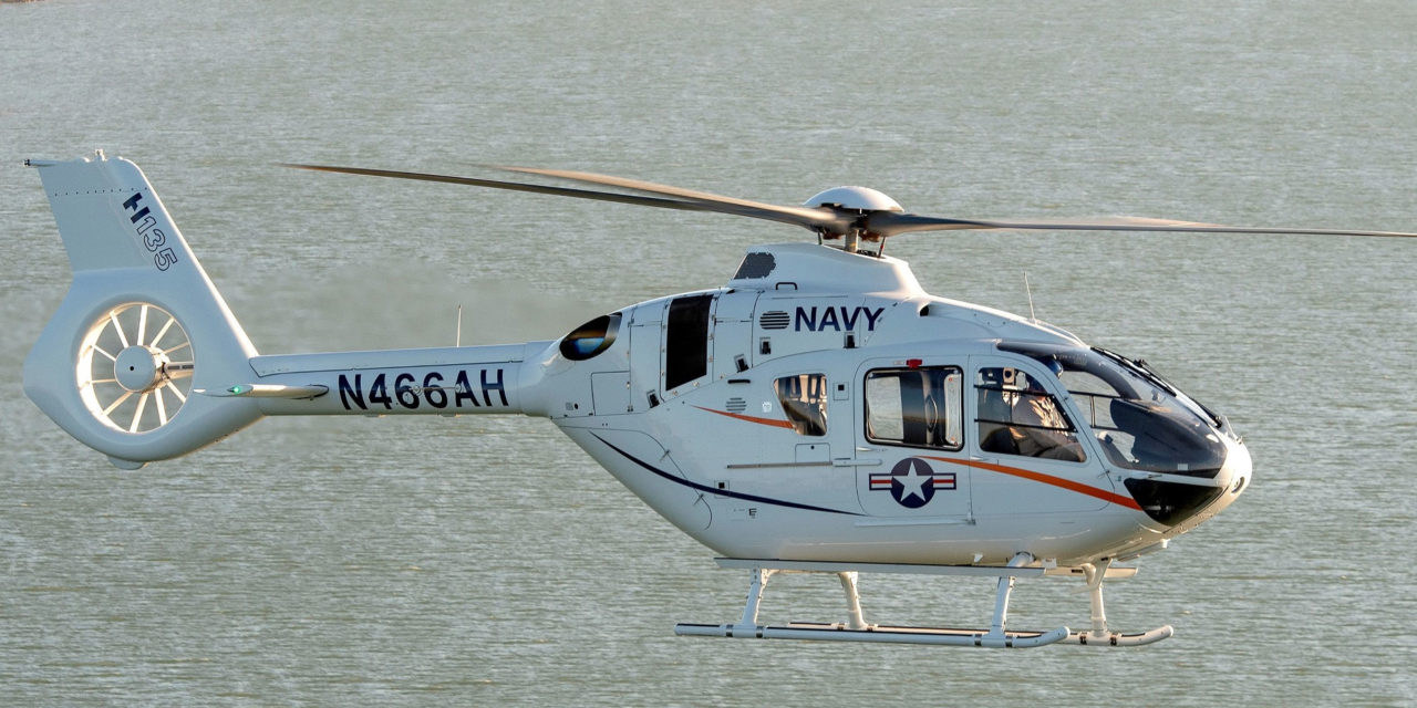 Airbus Helicopters to showcase H135 as future Navy helicopter trainer during U.S. Navy Fleet Fly-In event