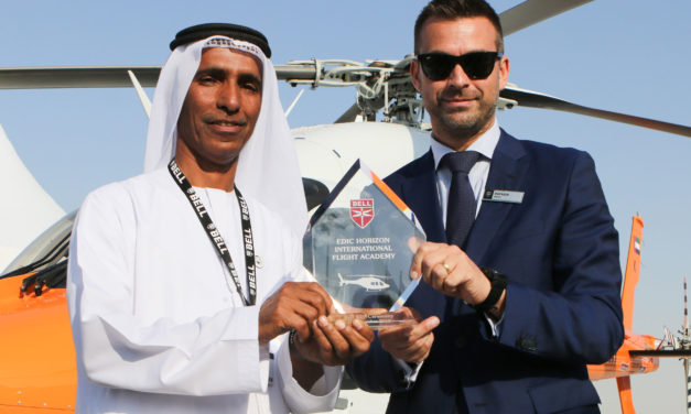 Bell and EDIC Horizon International Flight  Academy celebrate Bell 429 deliveries at MEBAA 2018
