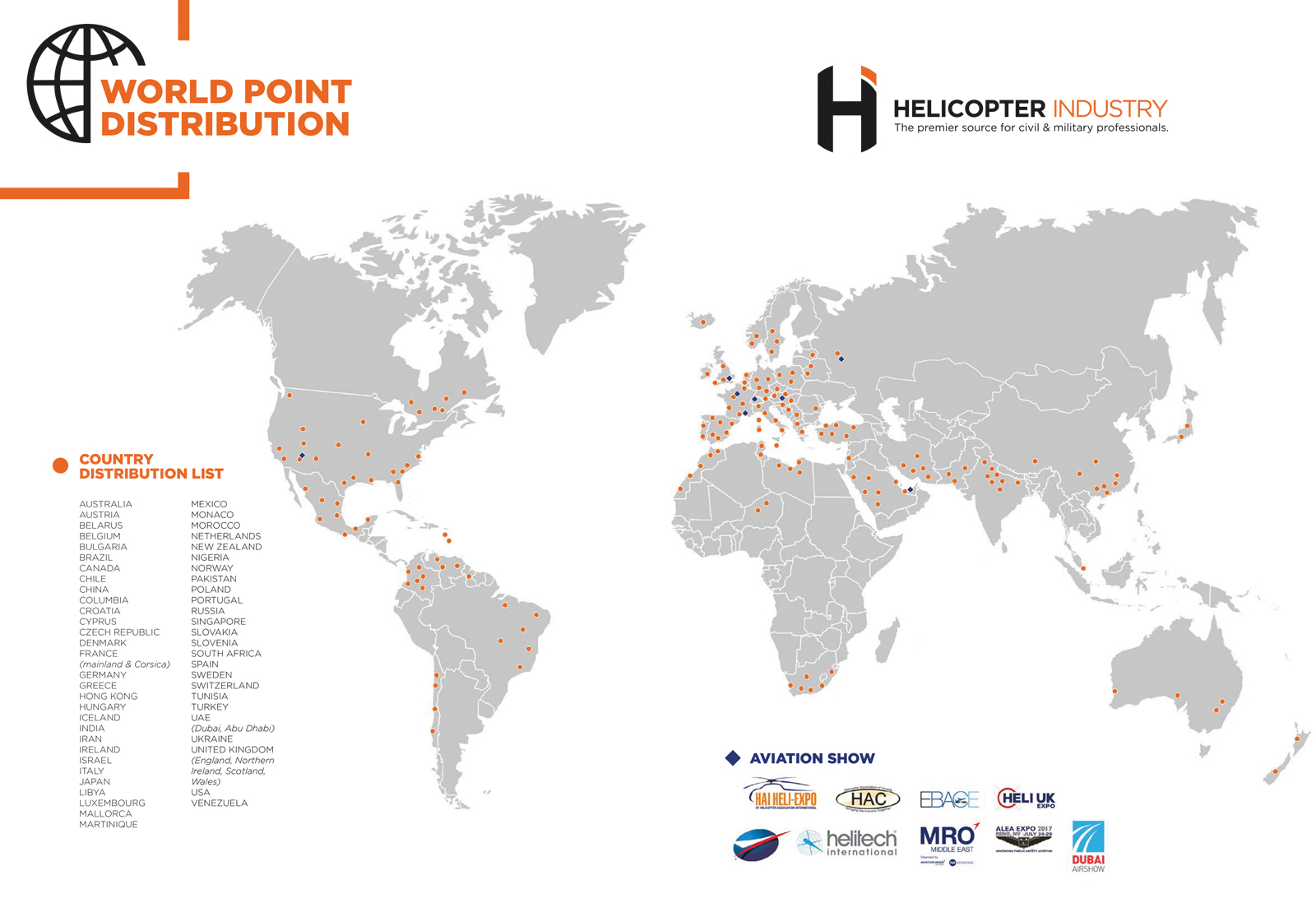 Map Of South Ireland New Zealand.Magazine Distribution Map 2019 Helicopter Industry