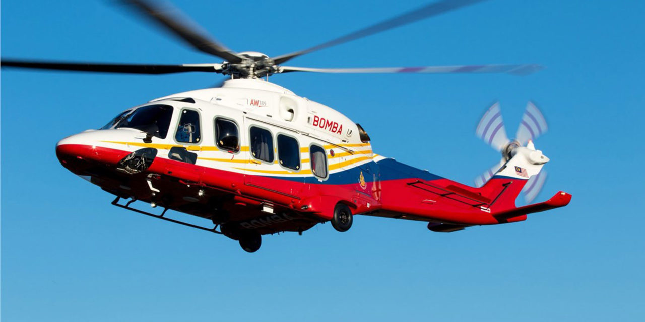 Korea and Malaysia AW189s to their fire fighting helicopter fleets