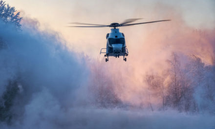 Airbus H160 helicopter happily handles Finland's freezing winter