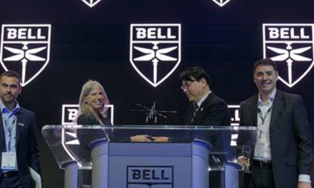 SUBARU and BELL celebrate Bell 412EPI sale for Nagano prefecture firefighting department in Japan