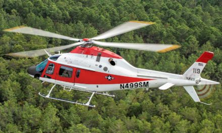 The TH-119 makes its first flight