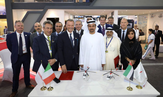 Abu Dhabi Aviation & Leonardo sign contracts for five helicopters