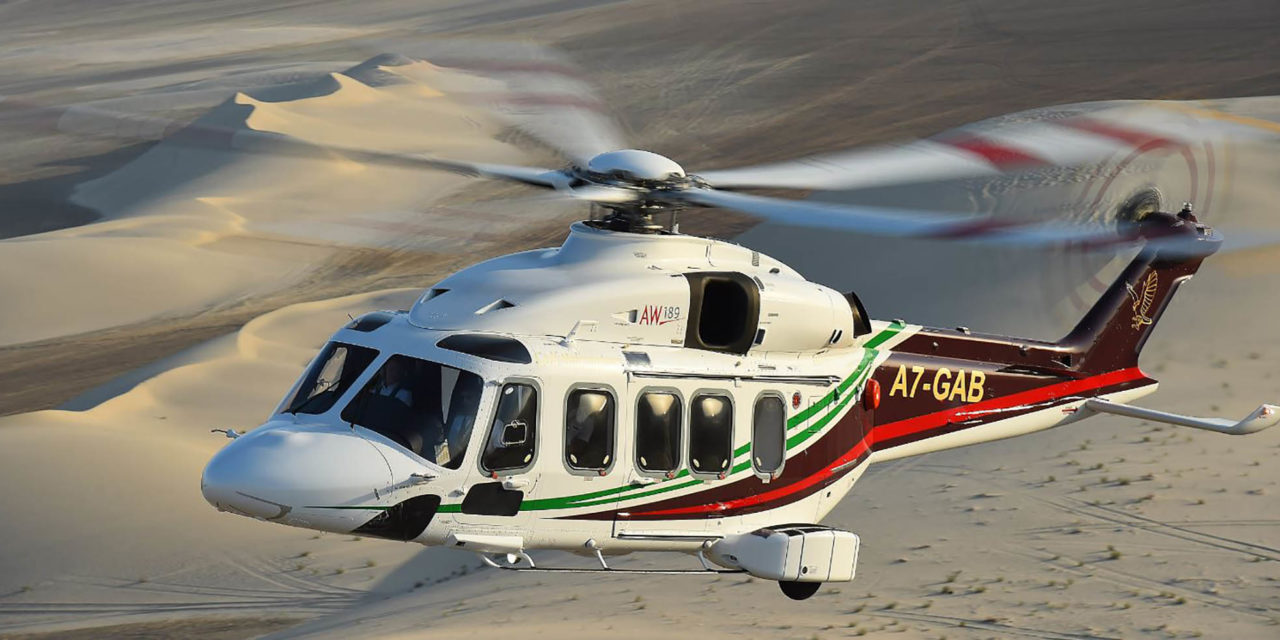 Leonardo: the AW189K helicopter achieves first market success with Gulf Helicopters as launch customer