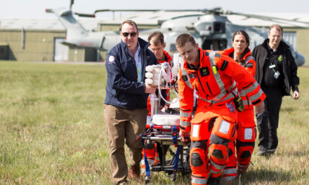 Hampshire Air Ambulance joins forces with the RAF