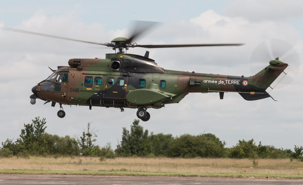 French Army as532 Cougar crash during training