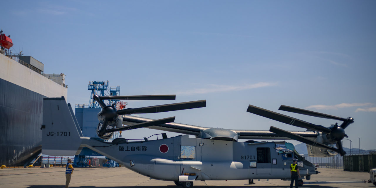 First V-22s arrive in Japan