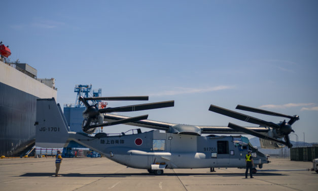 First V-22s arrive in Japan
