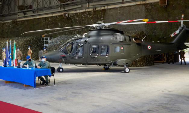 Leonardo delivers its first AW169 to the Italian Army