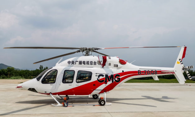 Bell Delivers the First TV News Helicopter to China