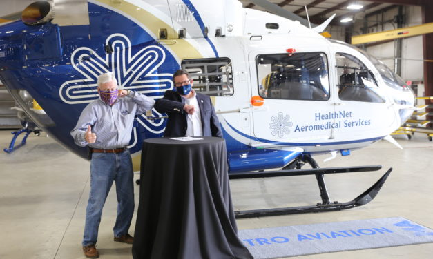 Metro Aviation delivers first of two EC145e  to HealthNet