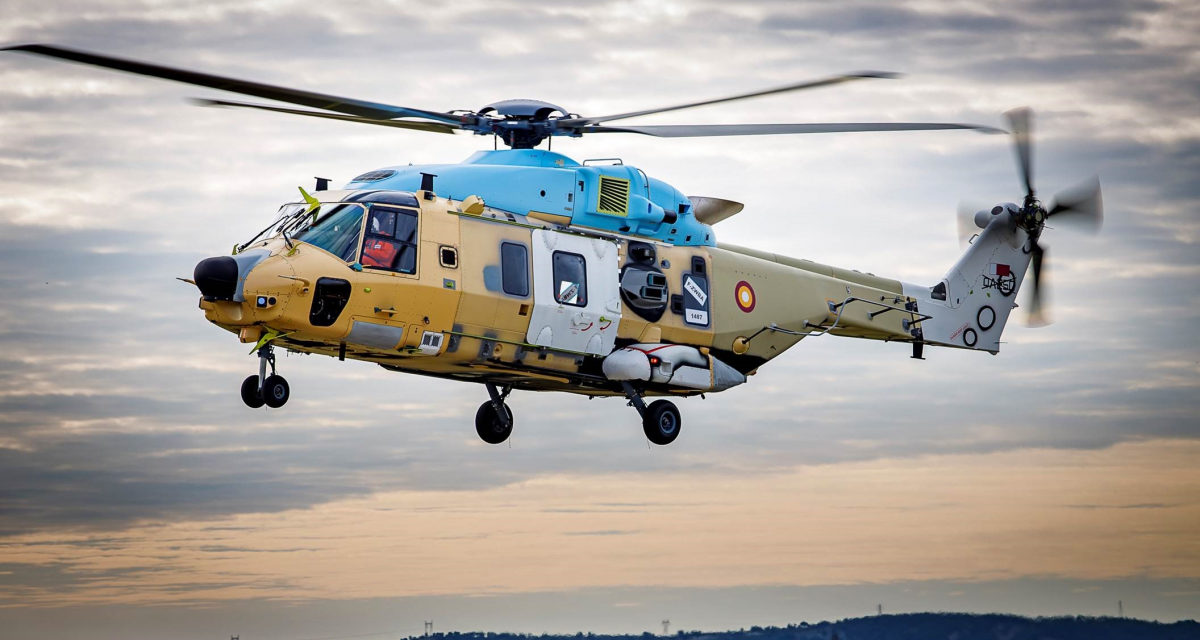 First flights for the new Naval Frigate and Tactical Transport Helicopters for Qatar Armed Forces