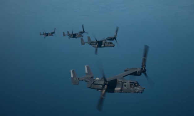 THE BELL BOEING V-22 OSPREY SOARS PAST 600,000 FLEET FLIGHT HOURS