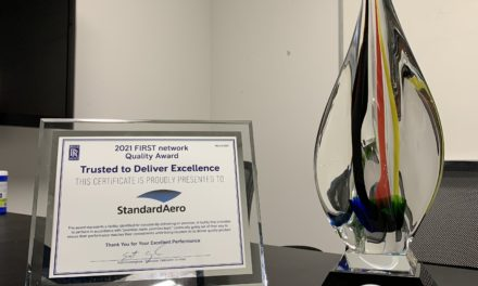 """StandardAero Recognized by Rolls-Royce for the 2021 """"Trusted to Deliver Excellence"""" Award during annual FIRST Network Recognition Event"""